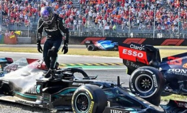 Formula 1 Lewis Hamilton Performs Acupuncture Therapy After Being Hit by Verstappen
